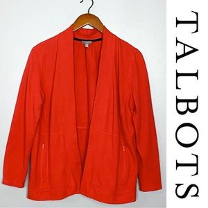 Talbots Open Front Cardigan Sweater Sz Med Petite